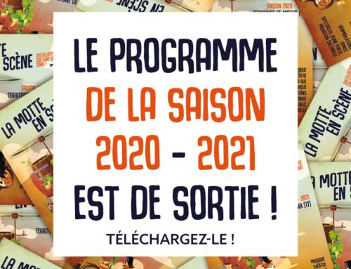 Le programme 2020 – 2021 est de sortie !